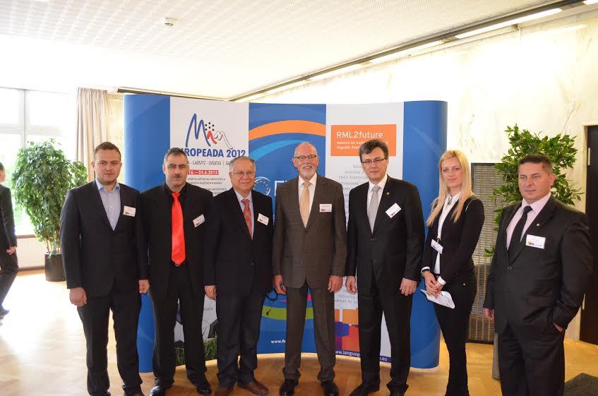 Dernek Başkanı M.Kaymakçı,FUEN Genel Başkanı H.H.Hansen ile